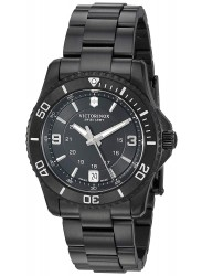 Victorinox Men's Maverick Slim Black Dial Black Rubber Watch 241702