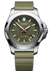 Victorinox Men's I.N.O.X Green Dial Green Rubber Bracelet Watch 241683.1