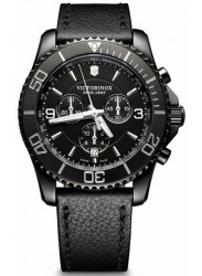 Victorinox Men's Maverick Black Edition Black Leather Watch 241786