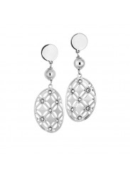 Earrings Pendant with circle decorated and Swarovski