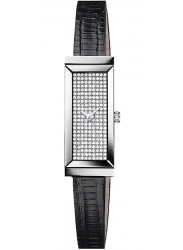 Gucci Women's G-Frame Diamond Pave Dial Lizard Strap Watch YA127509