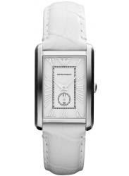 Emporio Armani Women's White Leather Watch AR1672