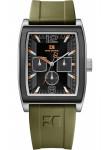 Hugo Boss Men's Orange Black Dial Green Rubber Watch 1512686