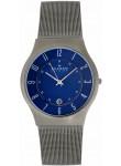 Skagen Men's Blue Dial Titanium Watch 233XLTTN