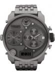 Diesel Men's Badass Oversized Chronograph Grey Dial Gunmetal PVD Watch DZ7247