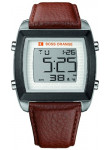 Hugo Boss Orange Men's Digital Dial Brown Leather Watch 1512610