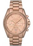 Michael Kors Women's Bradshaw Chronograph Rose Gold Tone Watch MK5503