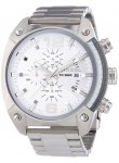 Diesel Men's Chronograph GMT White Dial Stainless Steel Watch DZ4203