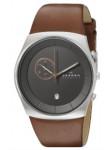 Skagen Men's Havene Brown Leather Watch SKW6085