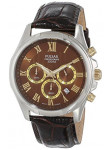 Pulsar Men's Brown Dial Brown Leather Watch PT3397