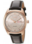 Seiko Recraft Men's Automatic Grey Dial Brown Leather Strap Watch SNKN72