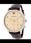 Emporio Armani Men's Classic Chronograph Brown Leather Watch AR1878