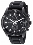 Fossil Men's WAKEFIELD Black Silicone Chronograph Watch CH3010