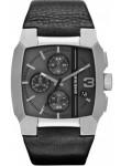 Diesel Men's Cliffhanger Chronograph Black Leather Watch DZ4275