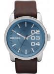 Diesel Men's Blue Dial Brown Leather Watch DZ1512