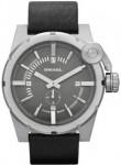 Diesel Men's Grey Dial Black Leather Watch DZ4271