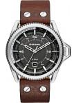 Diesel Men's Roll Cage Grey Dial Brown Leather Watch DZ1716