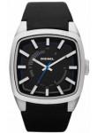 Diesel Men's Black Dial Black Leather Watch DZ1530