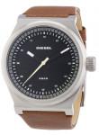 Diesel Men's Black Dial Brown Leather Watch DZ1561