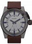 Diesel Men's Grey Dial Brown Leather Watch DZ4238