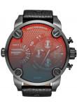 Diesel Men's Little Daddy Chronograph Black Leather Watch DZ7334