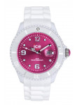 Ice Watch Unisex Ice-White Pink Dial White Silicone Watch SI.WP.B.S.10