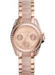 Michael Kors Women's Chronograph Mini Blair Rose Gold Tone Watch MK6175