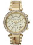 Michael Kors Women's Parker Chronograph Gold Tone Watch MK5632