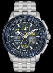 Citizen Skyhawk Men's Chronograph GMT Blue Dial Stainless Steel Watch JY8058-50L
