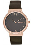 Skagen Women's Freja Brown Dial Brown Leather Watch SKW2368