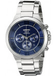 Seiko Men's Solar Chronograph Blue Dial Watch SSC281