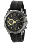 Seiko Men's Recraft Solar Chronograph Black Dial Watch SSC385