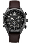 Seiko Prospex Men's Chronograph Black Dial Brown Leather Watch SSG015