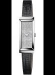 Gucci Women's G-Frame Diamond Pave Dial Lizard Strap Watch YA127509