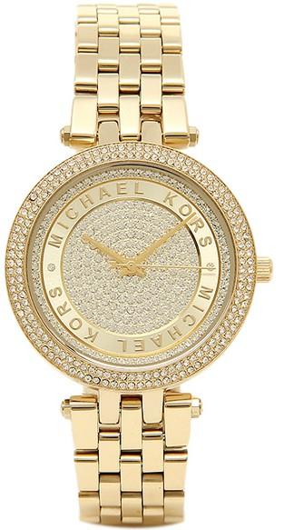 343d8fa6f423 Michael Kors Women s Mini Darci Crystal Pave Dial Gold-Tone Watch MK3445