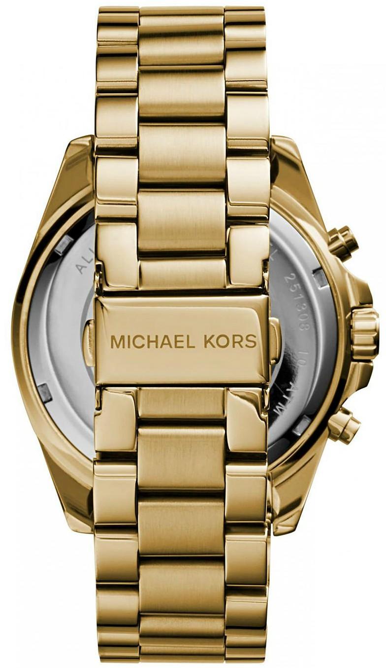 32dc3ba9973b Michael Kors Unisex Bradshaw Chronograph Gold-Tone Watch MK5605