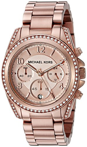 39628ba4d039 Michael Kors Women s Blair Chronograph Rose Gold Tone Watch MK5263